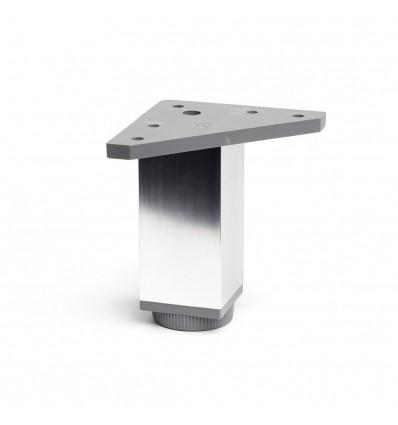 Pata regulable de aluminio cuadrada