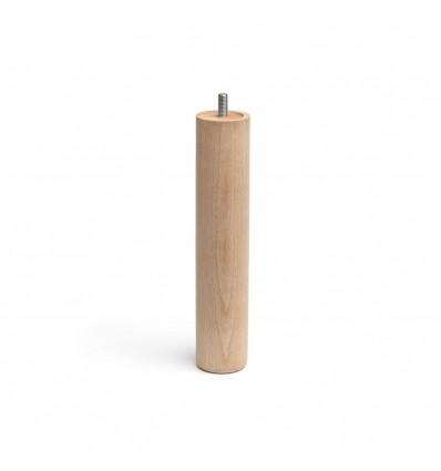 Pata de madera cilíndrica