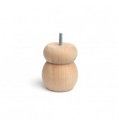 Pata de madera redonda