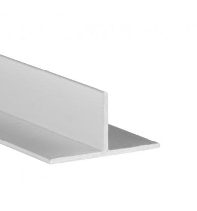 Perfil en T de aluminio