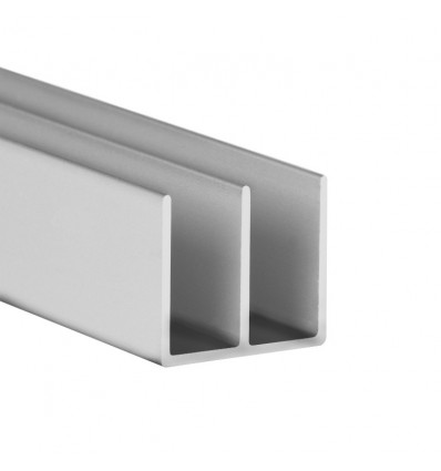 Perfil en doble U de aluminio