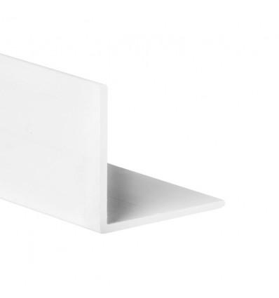 Perfil angular con lados iguales de PVC