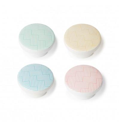 Pack de 4 pomos de estilo decorativo