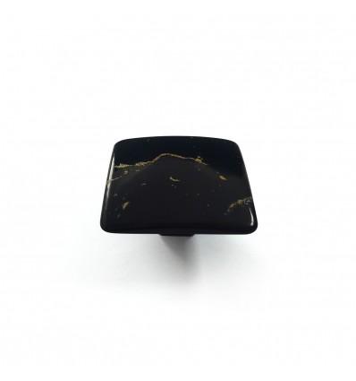 Pomo de estilo decorativo mosaico con acabado negro